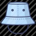 bucket, fashion, hat, hats icon