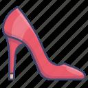 heel, heels, high, shoes icon
