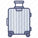 carry, luggage, on, suitcase, trolley icon