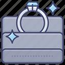 accessory, diamond, present, ring icon