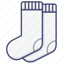 clothes, pair, sock, socks icon