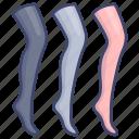 long, nylon, socks, stockings icon