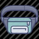 bag, belt, waist, waistbag icon