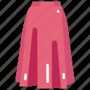 clothes, clothing, fashion, female, femenine, garment, skirt icon