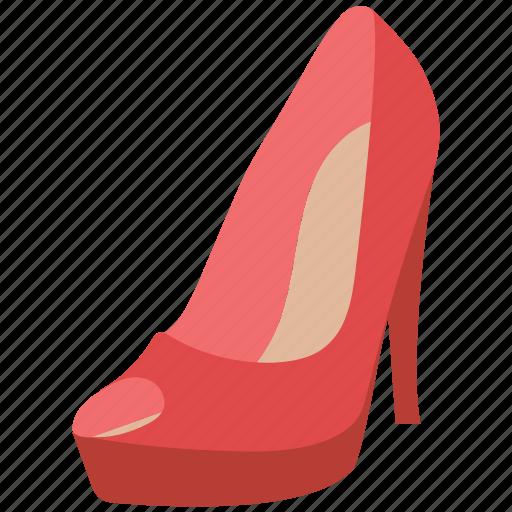 footwear, heel shoe, high heeled, pump, pump shoe, shoe icon
