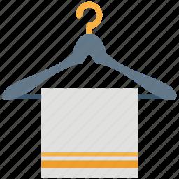 bathroom towel, hanger, hanger towel, shower, towel, towel on hanger icon