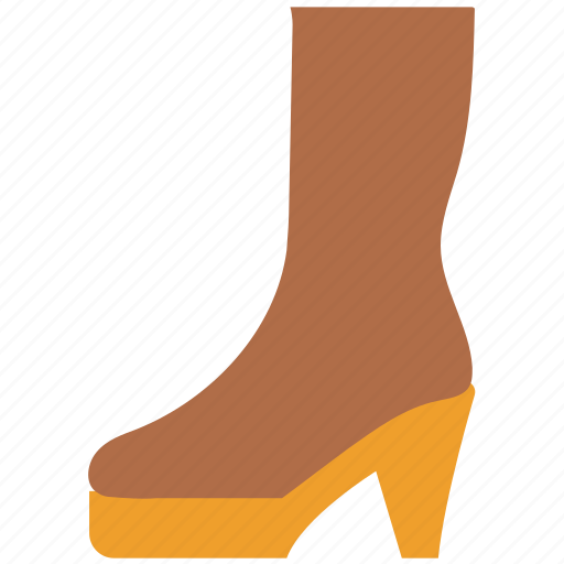ankle boot, boot, fashion, footwear, high boot, long boot, shoe icon