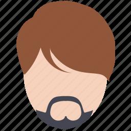 avatar, beard, face, fashion, hair style, man icon