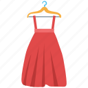 clothing, garments, hanger dress, long skirt, women dress icon