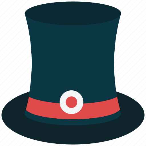 cap, hat, headwear, magician hat, top hat, victorian top hat icon
