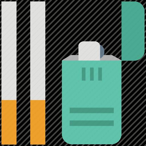cigarette lighter, cigarettes, lighter, narcotic, nicotine, tobacco icon