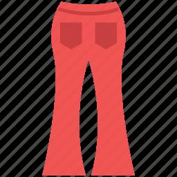 clothing, garments, palazzo pant, woman trouser, women pants icon