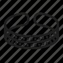 bracelet, jewelry icon