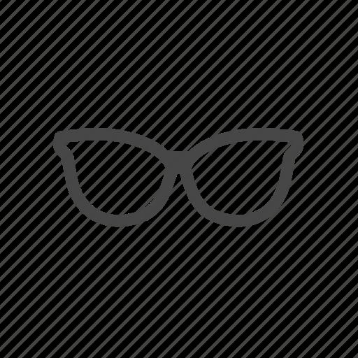 eye wear, glasses, lady glasses, vision, woman glasses icon