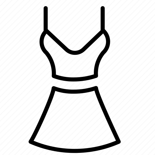 apparel, dress, skirt, suit icon