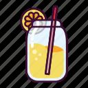 bottle, drink, glass, lemonade icon