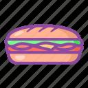 sandwich, bread, breakfast, burger