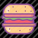 burger, hamburger, food, snack