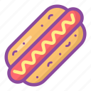 hot dog, fast food, barbecue