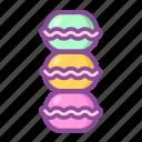 macaron, dessert, biscuit, bakery