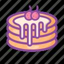 pancakes, dessert, sweet, cake