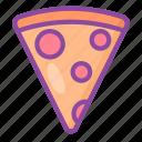 pizza, slice, fast food, food