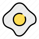 fried egg, fried eggs, scrambled eggs, omelet, egg, food, fast food
