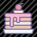 pancake, food, cake, eat, dessert