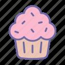 cupcake, cake, food, dessert, cream