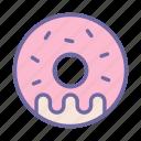 food, sweet, donut, cream, dessert, eat