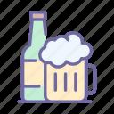 beer, alcohol, drink, glass, mug, beverage