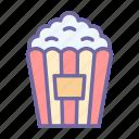 popcorn, corn, movie, cinema, food, eat