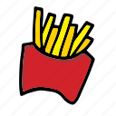 fries, chips, french fries, fastfood, snack