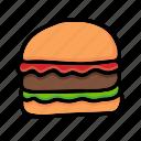 hamburger, fast food, cheeseburger, junk food, burger