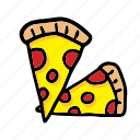 pizzas, cheese, food, italian, meal