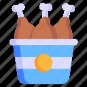 food, fried chicken, chicken bucket, chicken legs, drumsticks