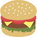 burger, calorie, cuisine, fast food, food, hamburger, junk food icon