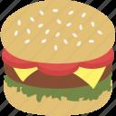 burger, calorie, cuisine, fast food, food, hamburger, junk food icon
