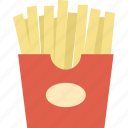 calorie, cuisine, fast food, food, french fries, junk food, meal icon