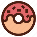 dessert, doughnut, fast, food, sweet icon