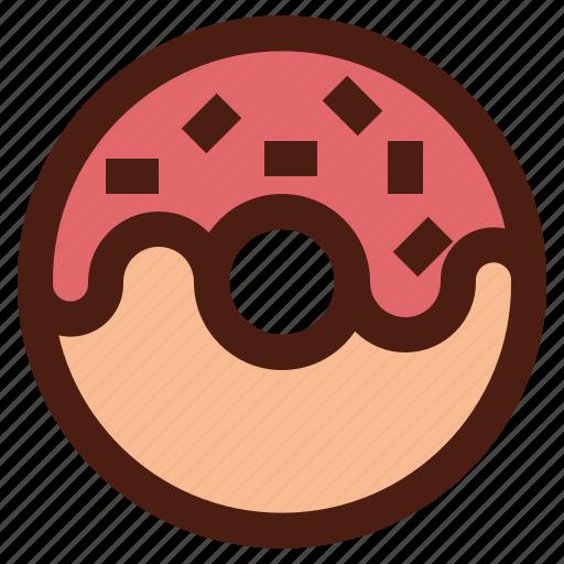 dessert, doughnut, fast, food, sweet icon