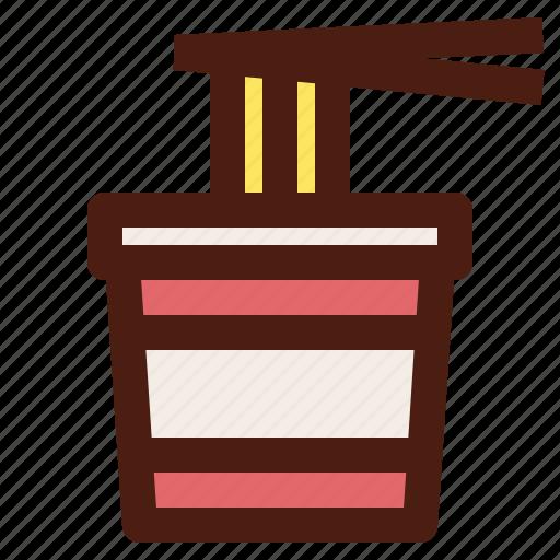 chopsticks, fast, food, instant, noodle icon