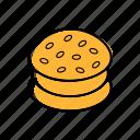 burger, food, snack, street