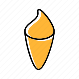 food, ice cream, snack, street icon