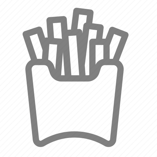 batonnet, chips, fast food, finger chips, french fried, fries, potato icon