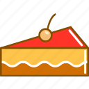 cake, colored, cream, desert, food, sweet, untitled icon
