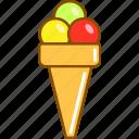 colored, cream, dessert, fast, food, food icon, ice icon