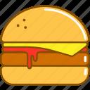 burger, cheeseburger, fast, food, humburger, menu, restaurant icon