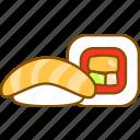 combo, logo, sashimi, sauce, set, sushi, sushi roll icon