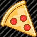 fast, food, italia, peperoni, pizza icon
